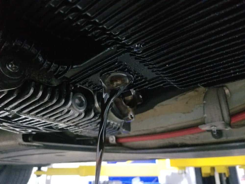 BMW Mechatronics Sealing Sleeve and Adapter Replacement - Allow the oil pan to thoroughly drain