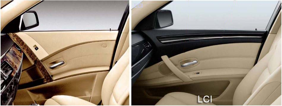 BMW LCI - A well needed redesign of the interior door panels.