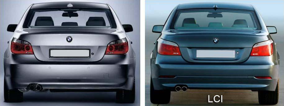 BMW LCI - exterior LCI changes to the BMW E60 sedan