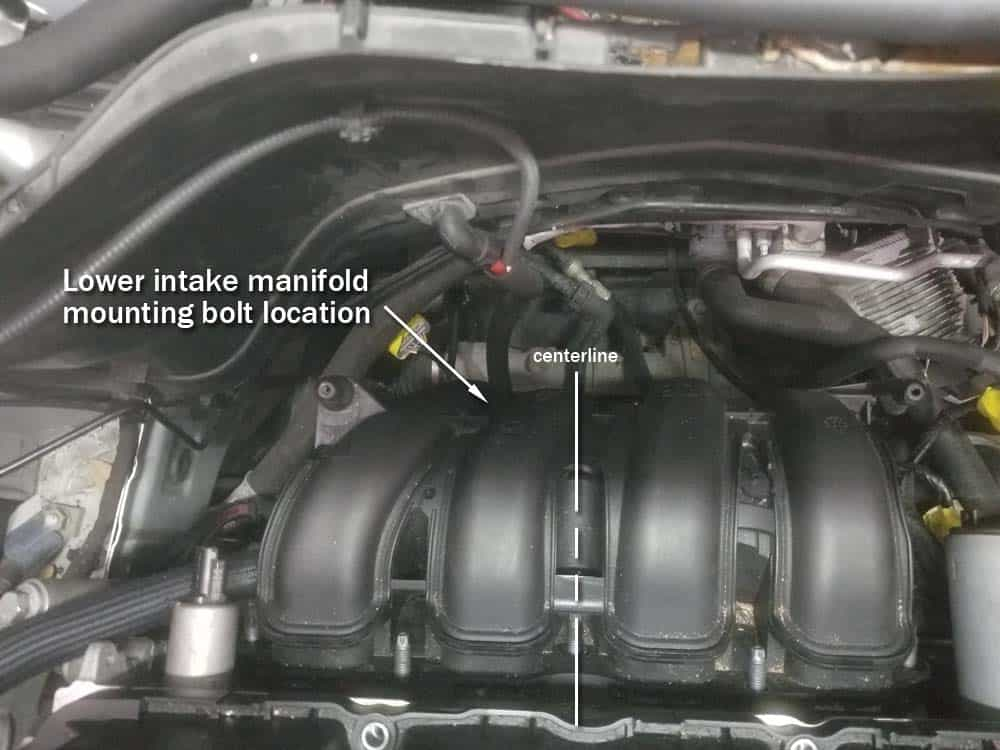 MINI R56 water pipe replacement - Lowe intake manifold mounting bolt location