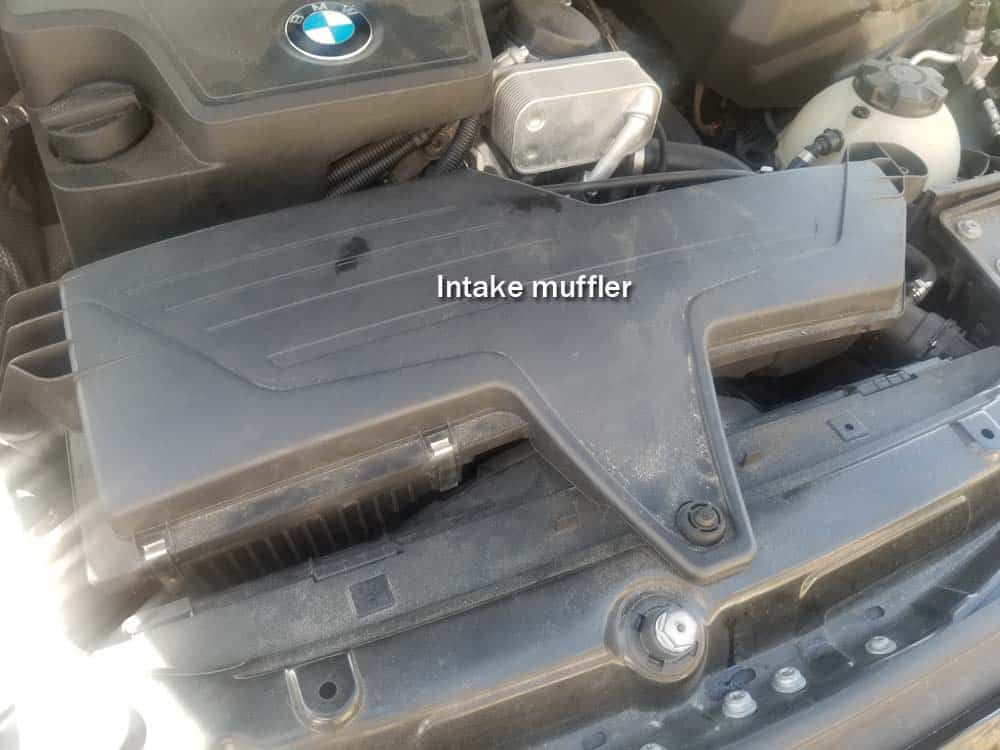 bmw f30 air filter replacement - Air filter is located inside the intake muffler.