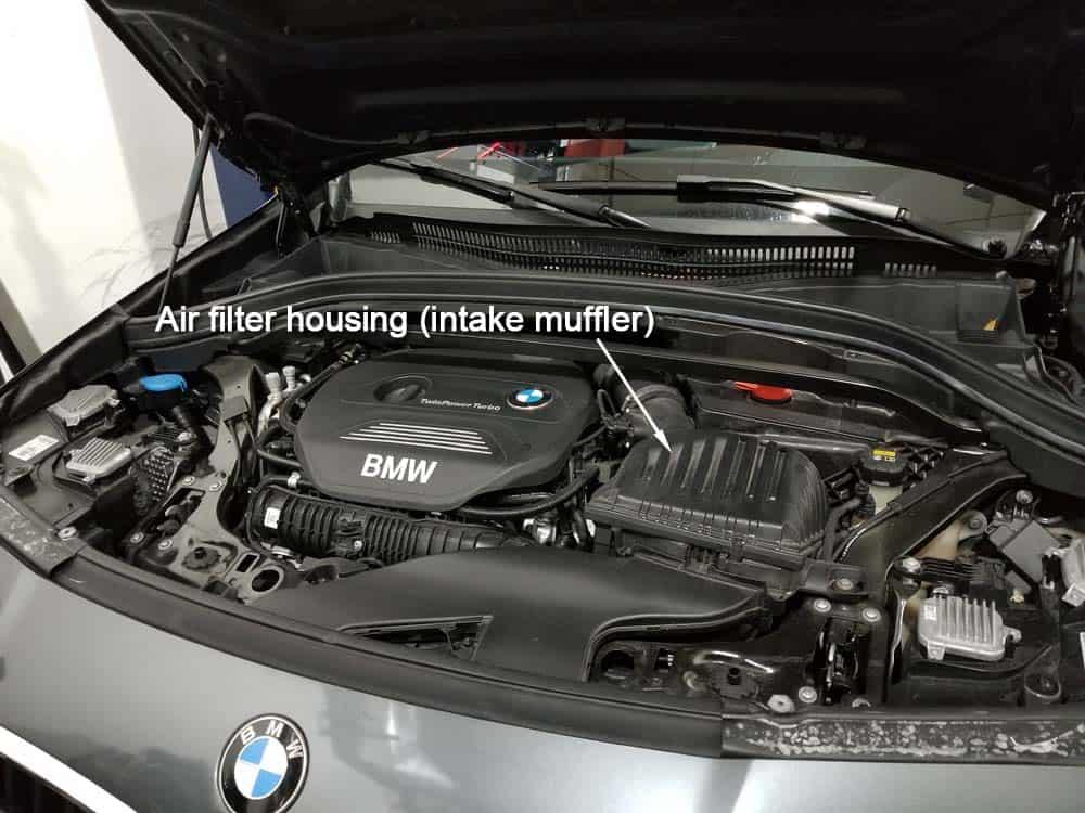 bmw x2 air filter replacement - The BMW X2 air filter housing (intake muffler)