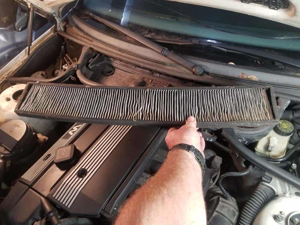 bmw m52 intake manifold removal - Remove the microfilter from the vehicle