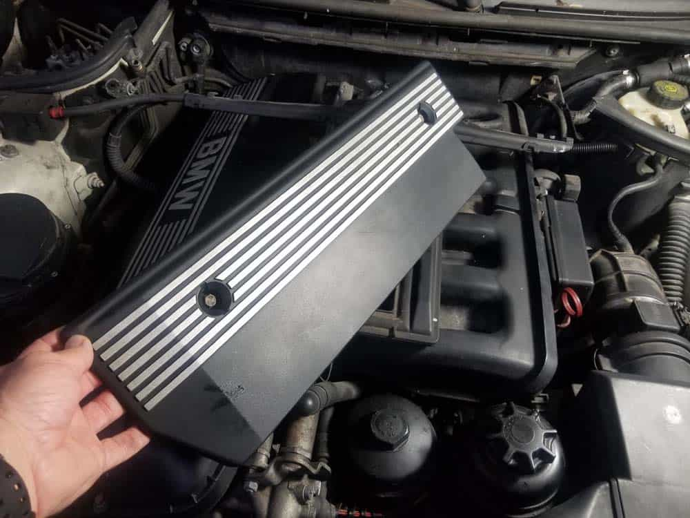 bmw m52 intake manifold removal - Remove the cover from the vehicle