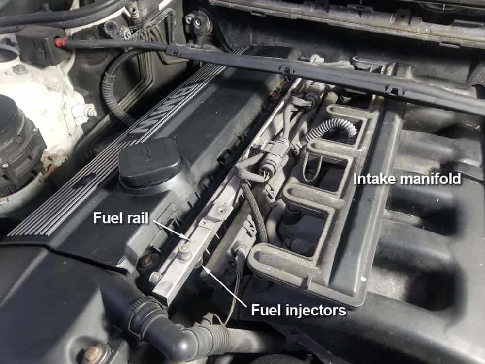 bmw e46 fuel injector replacement - Identify the location of the fuel injectors and the fuel rail