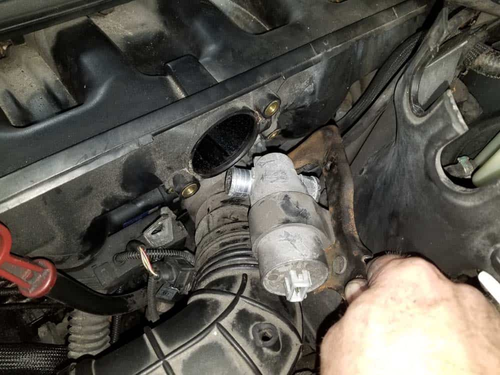 Remove the idle control valve from the intake manifold