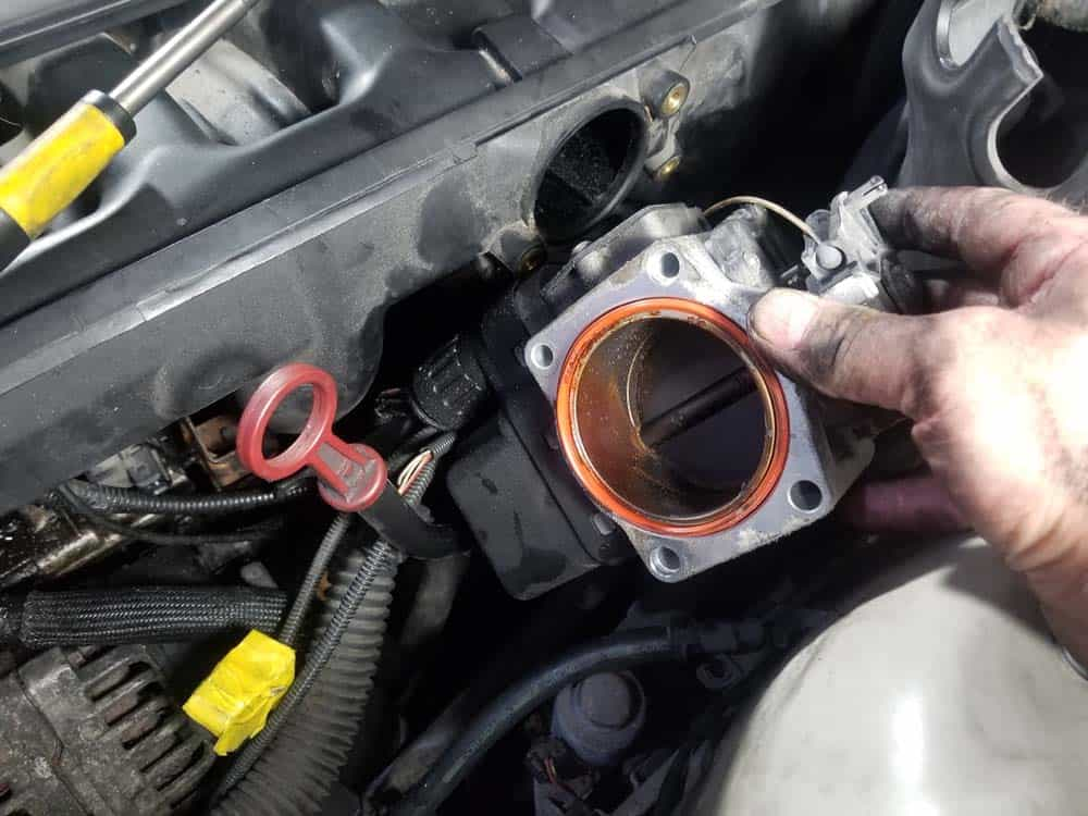 Pull the throttle body free of the intake manifold