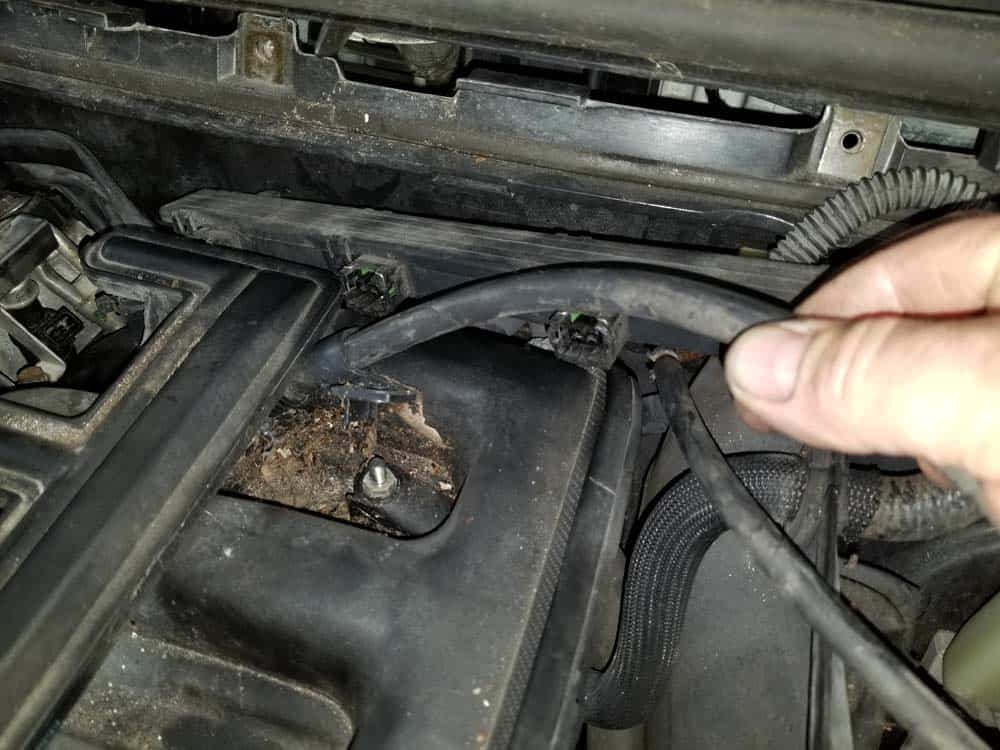 Remove the positive battery cable from the intake manifold