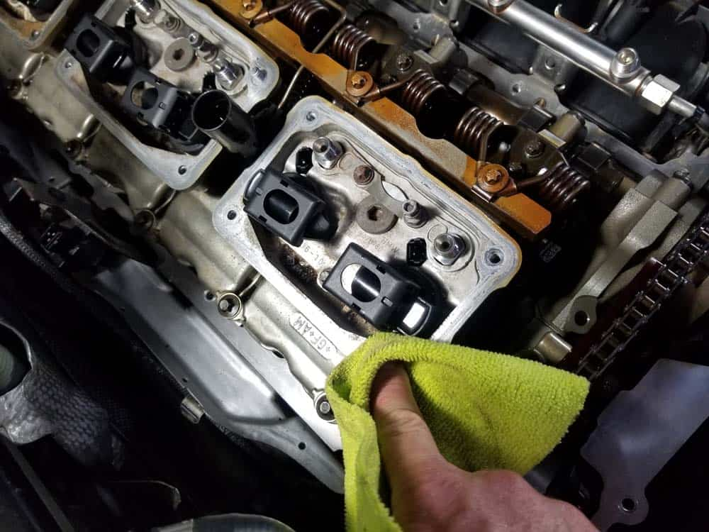 Don't forget to clean the interior cylinder head areas