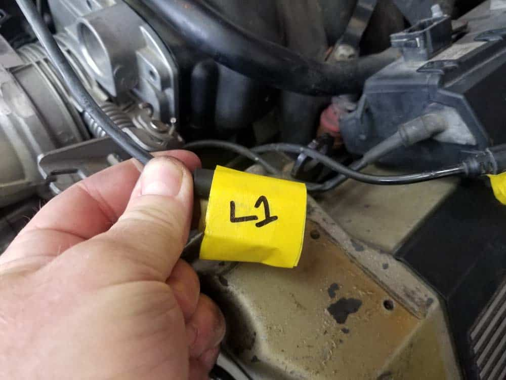 Label all of the connections with high visibility tape