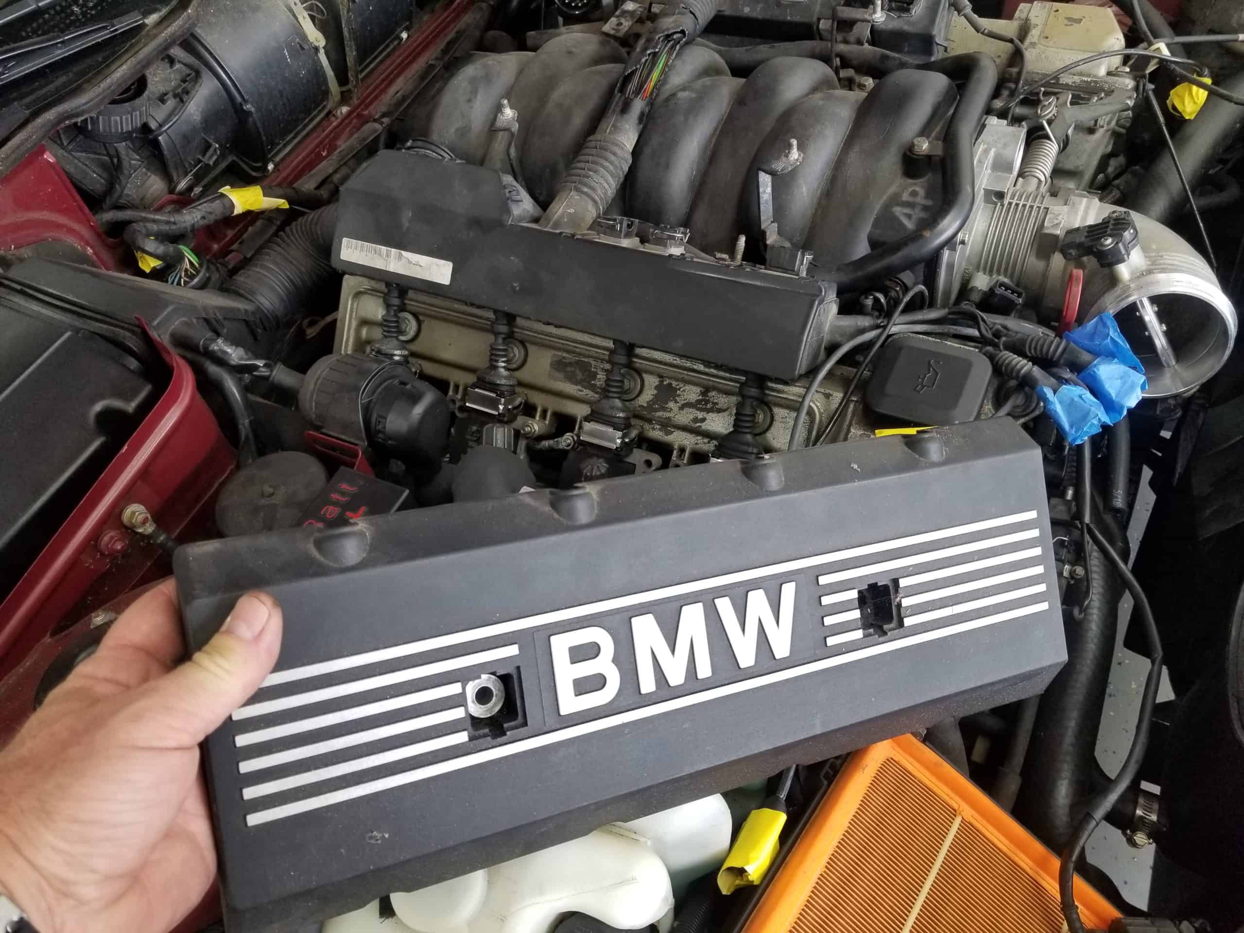 bmw m60 intake manifold gasket replacement - Remove the side engine covers