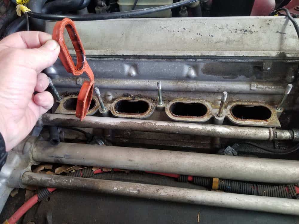 Remove the old manifold gaskets