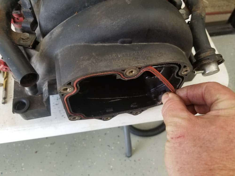 Remove the PCV valve gasket from the intake manifold