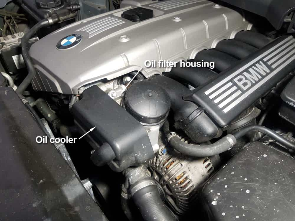 bmw n52 oil filter housing gasket replacement - Locate the oil filter housing and oil cooler at front of engine