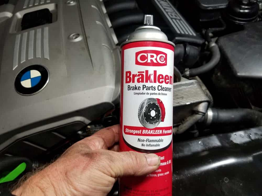CRC Brakleen - great for cleaning your BMW engine