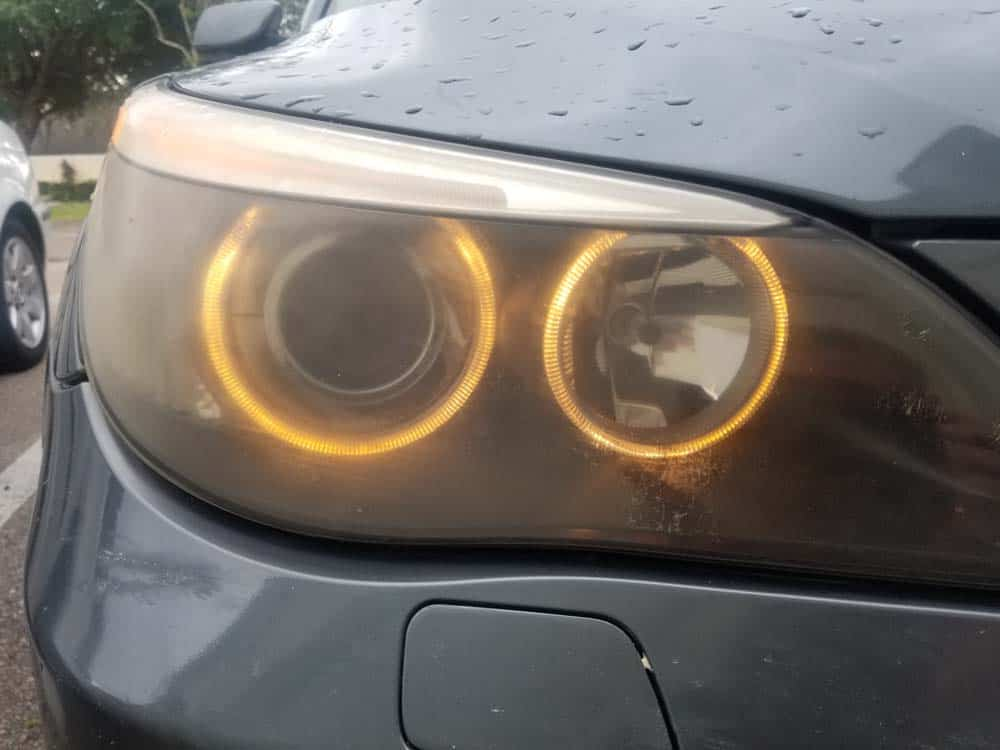 bmw e60 parking lamp angel eye bulb replacement - the angel eyes on a 2006 530xi
