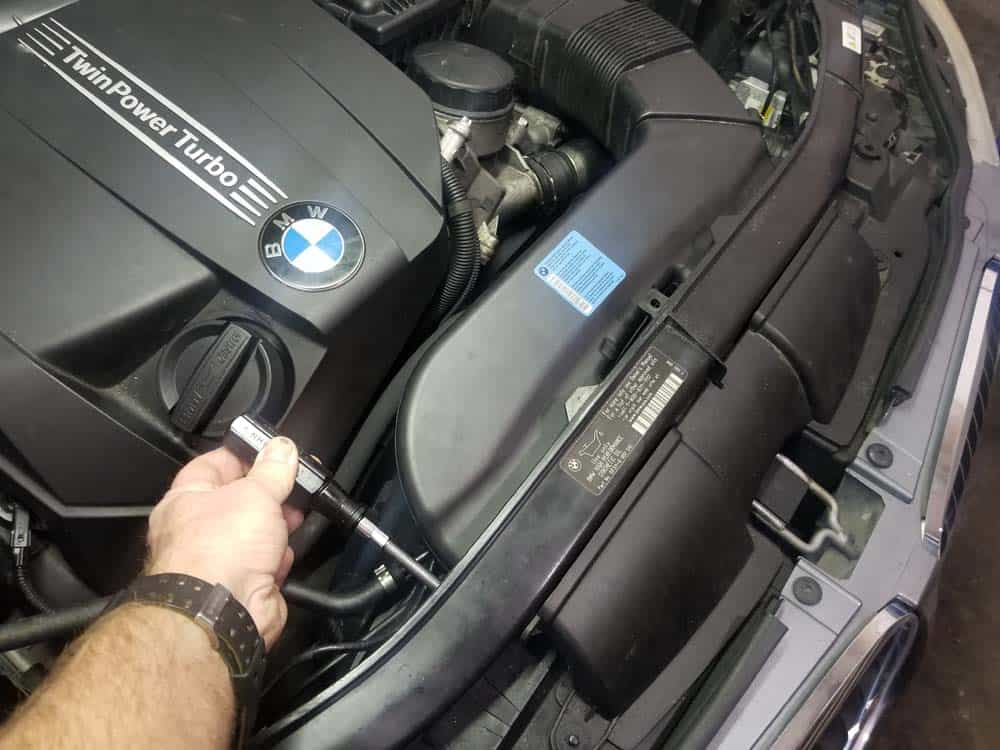 bmw n55 starter replacement - Remove the two torx screws anchoring the intake duct
