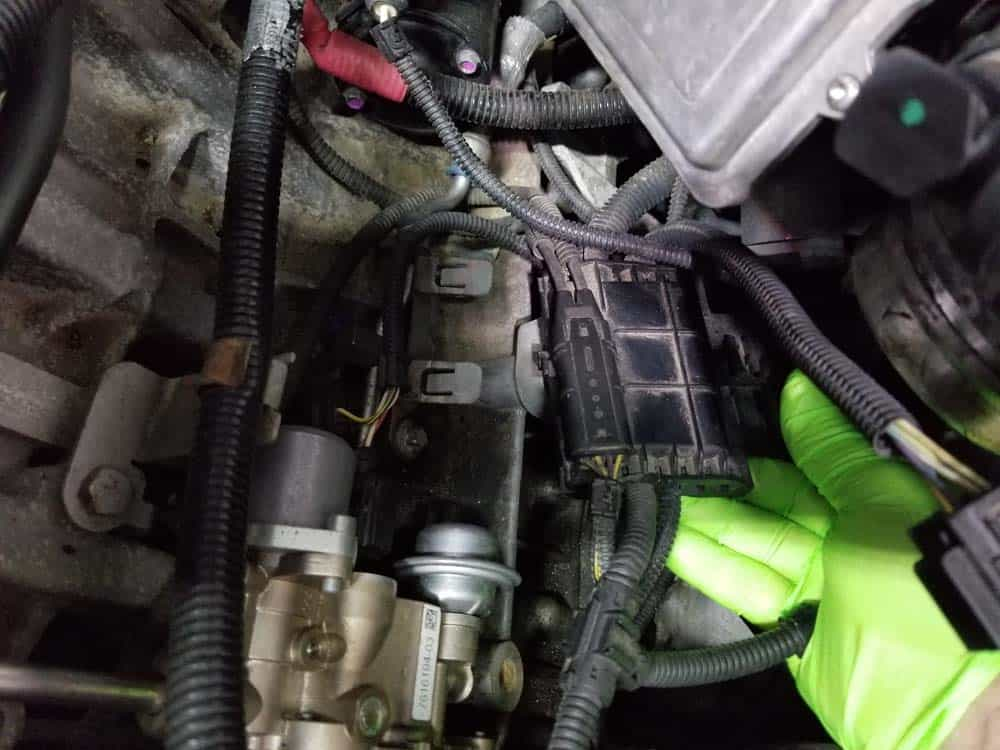 bmw n55 starter replacement - Pull the wiring harness loose from the engine
