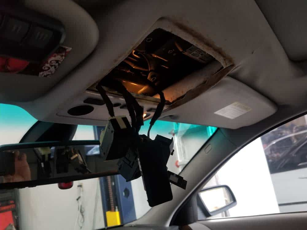 Remove the switches from the headliner cover