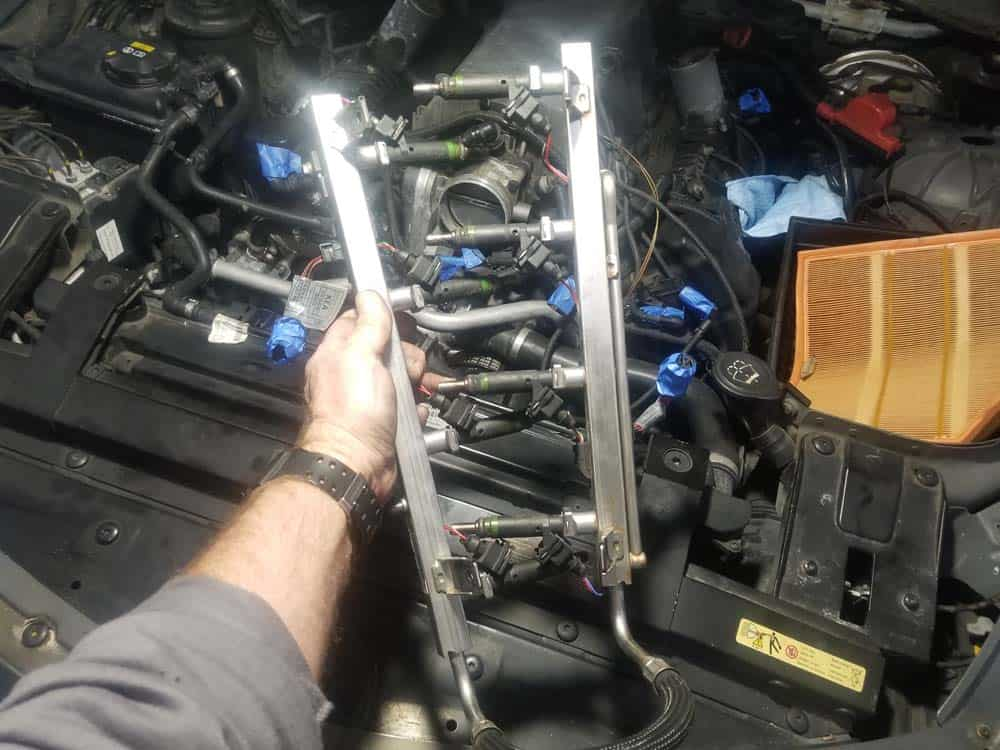bmw n62 intake manifold gasket replacement - Remove the fuel rail and injectors from the engine