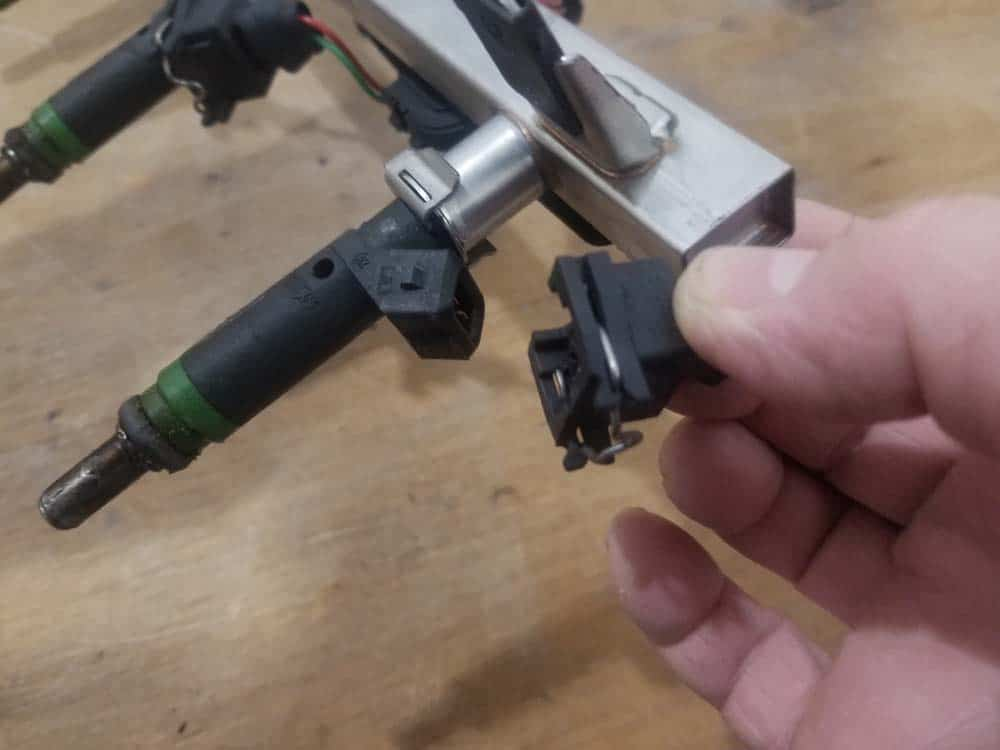 bmw n62 fuel injector replacement - Unplug the fuel injector