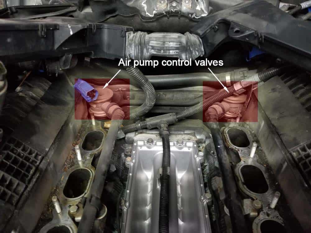 bmw n62 air pump control valve replacement - Identify the two air pump control valves