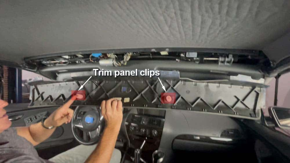 bmw e64 convertible latch gear replacement - The trim panel clips