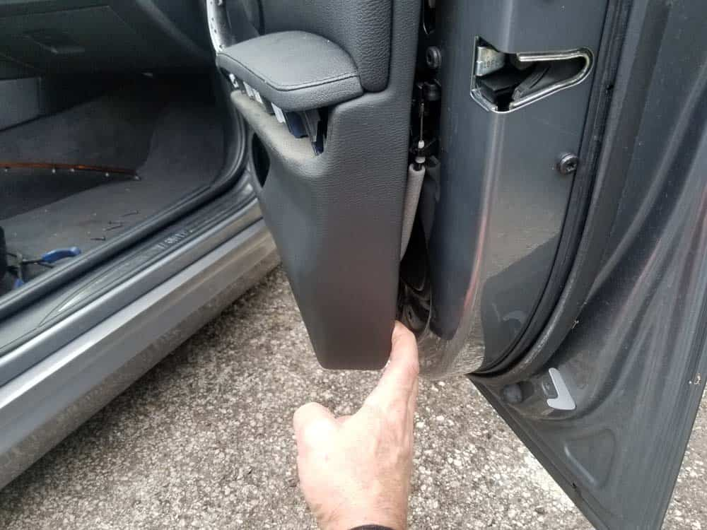 bmw e90 door handle replacement - Pull the door panel loose with your hands