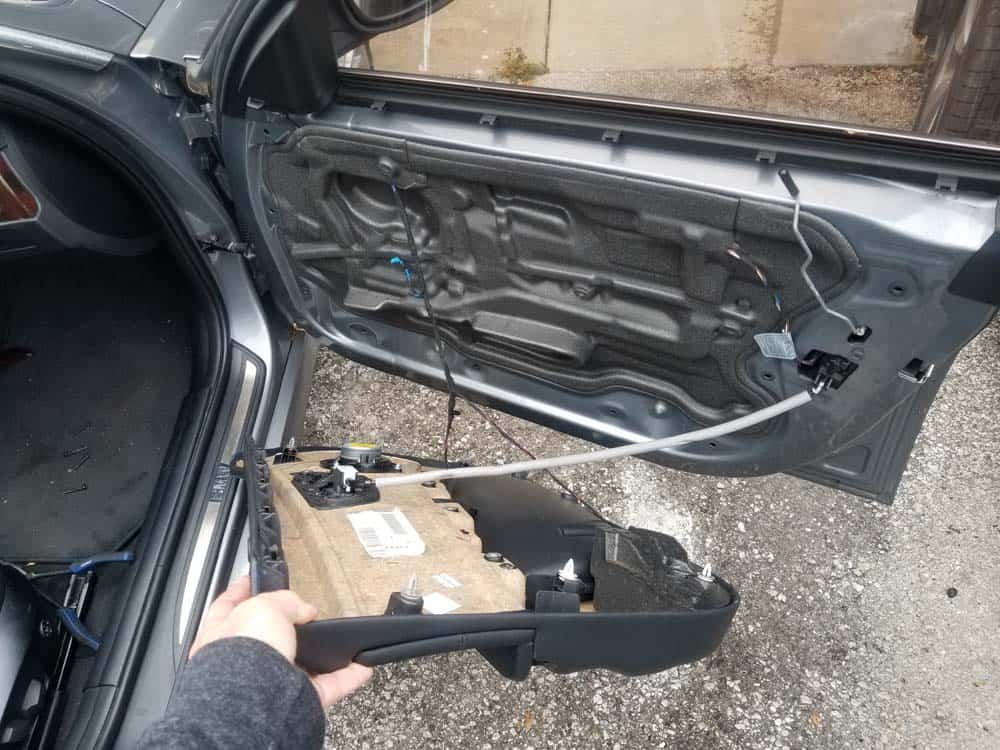 bmw e90 door handle replacement - carefully remove the door panel from the vehicle