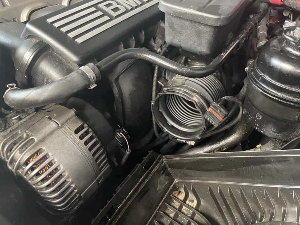 rough idle diagnoses and repair - the intake boot ready for testing