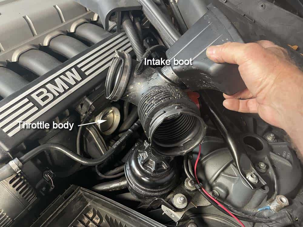 rough idle diagnoses and repair - Remove the intake boot and visually inspect for cracks