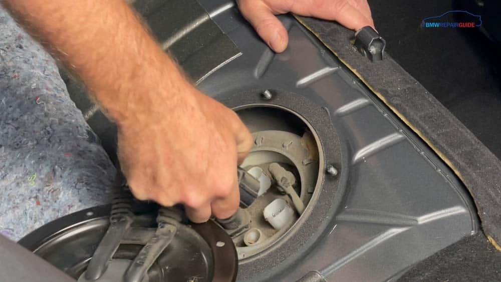 Unplug the fuel pump
