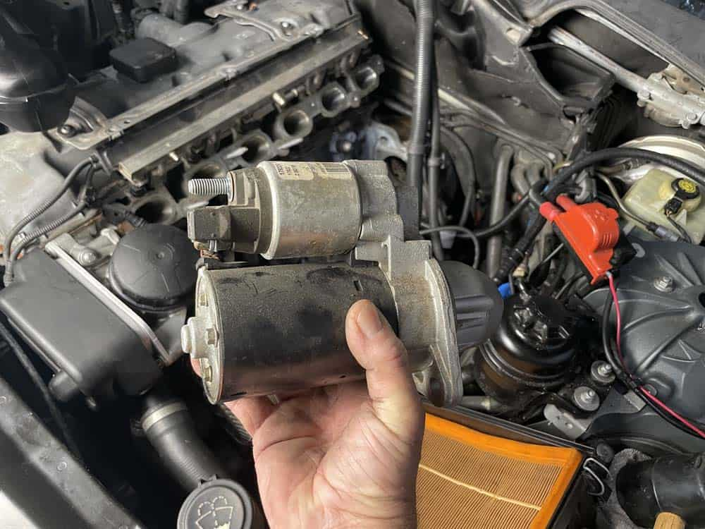 bmw n52 starter motor - Remove the starter from the vehicle